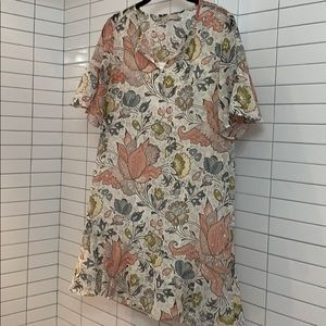 Floral Cocktail Shift Dress